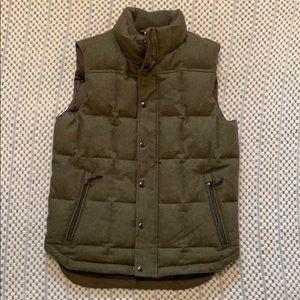 Lands' End wool blend down vest size S